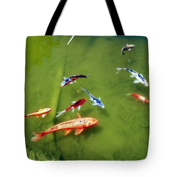 Pond With Koi Fish Tote Bag by Joseph Frank Baraba