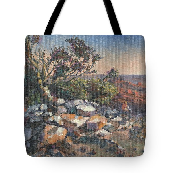 Pondering By The Canyon Tote Bag