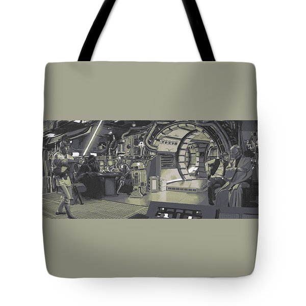 Pondering Chewie's Next Move Tote Bag by Kurt Ramschissel