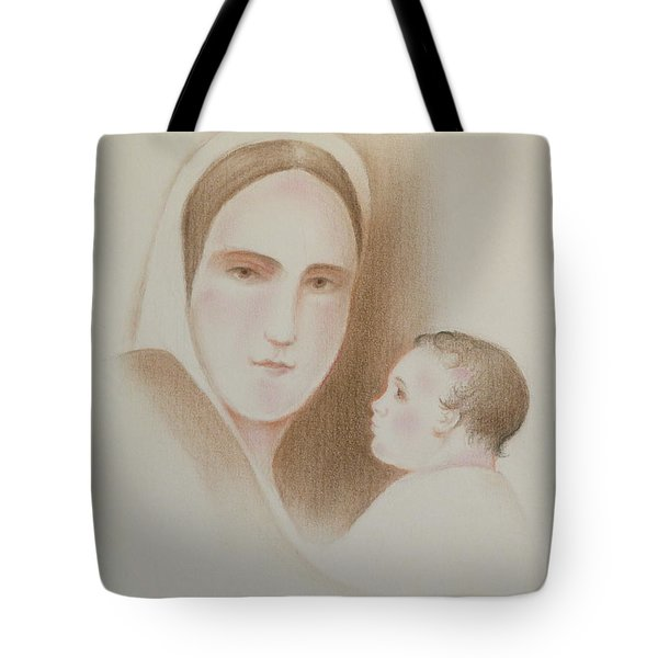 Tote Bag featuring the pastel Pondering In Her Heart by Michele Myers