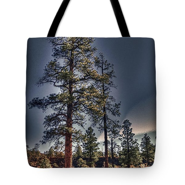 Ponderosa Pines At The Bonito Lava Flow Tote Bag
