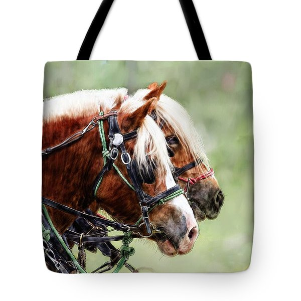 Ponies In Harness Tote Bag
