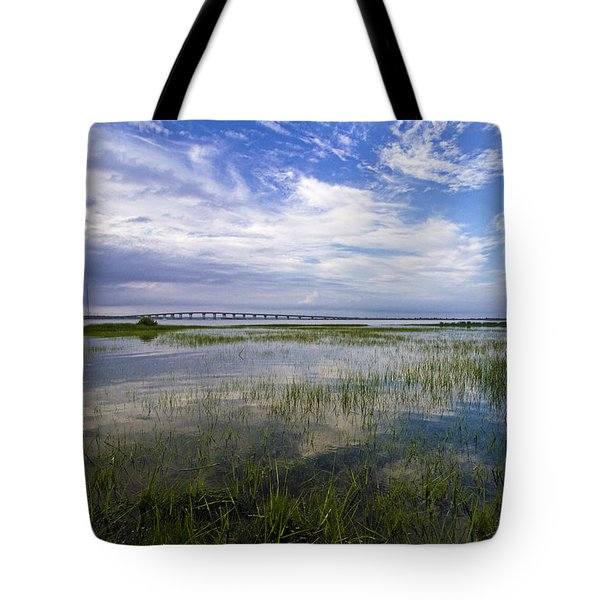 Ponquogue Bridge Springtime Tote Bag