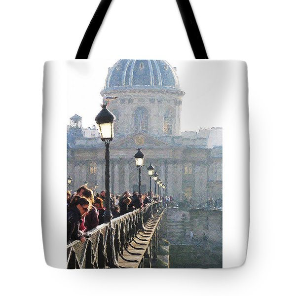 Tote Bag featuring the digital art Pont D'art by Julian Perry