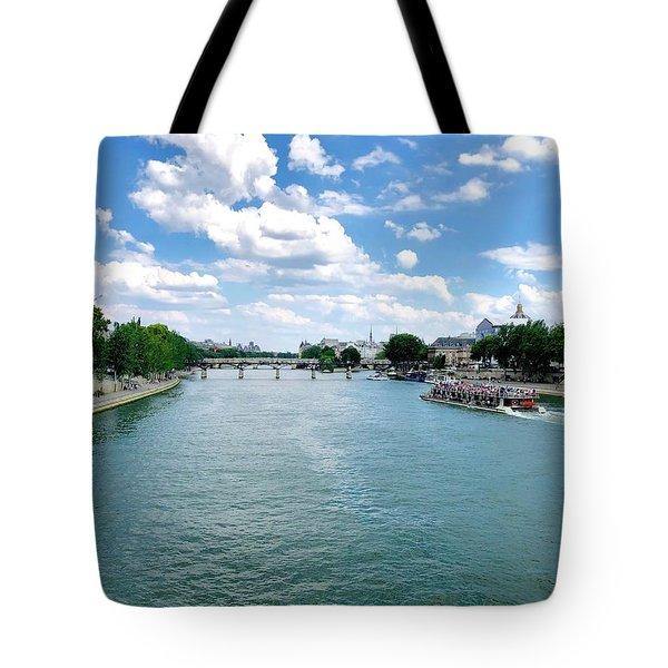 River Seine At Pont Du Carrousel Tote Bag