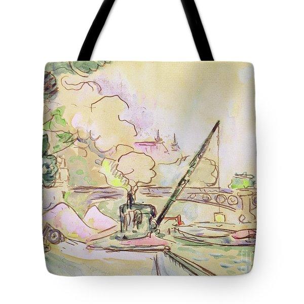 Pont Du Louvre Tote Bag