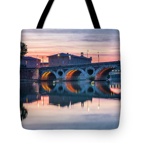 Tote Bag featuring the photograph Pont Neuf In Toulouse At Sunset by Elena Elisseeva