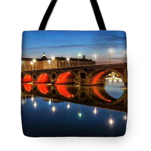 Tote Bag featuring the photograph Pont Neuf In Toulouse by Elena Elisseeva