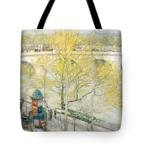 Pont Royal Paris Tote Bag by Childe Hassam