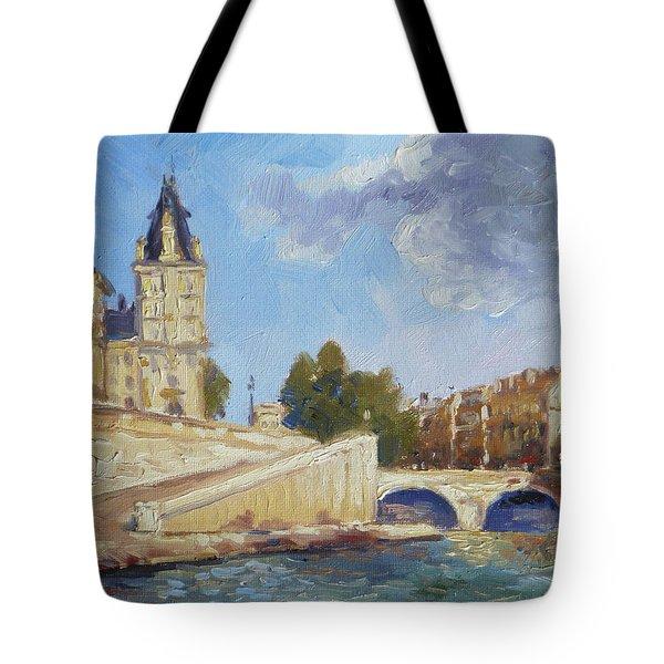 Pont Saint Michel, Paris Tote Bag