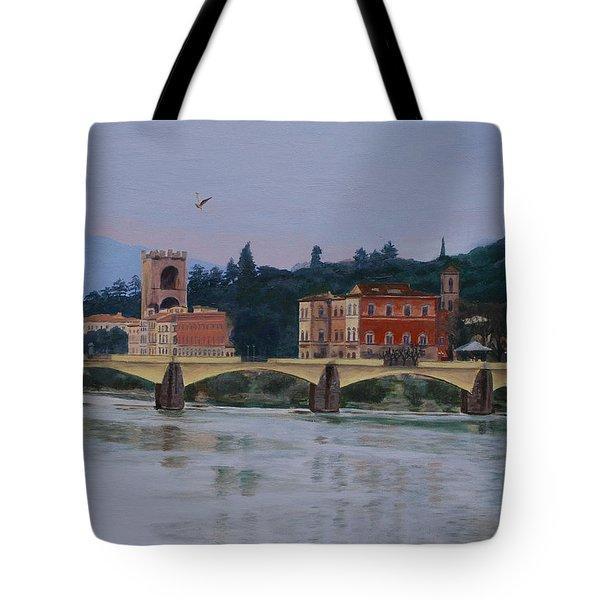 Pont Vecchio Landscape Tote Bag