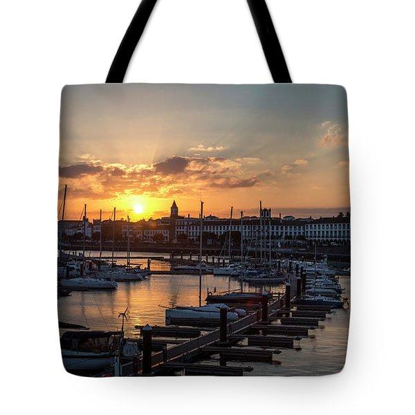 Ponta Delgada Sunset Tote Bag