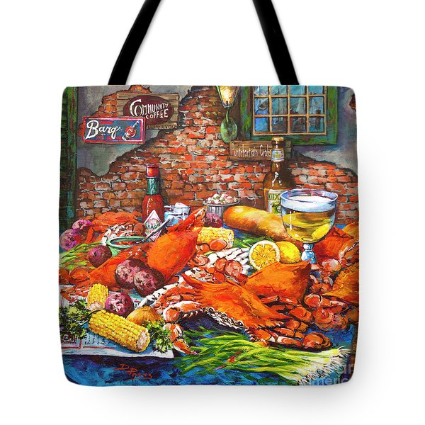 Pontchartrain Crabs Tote Bag