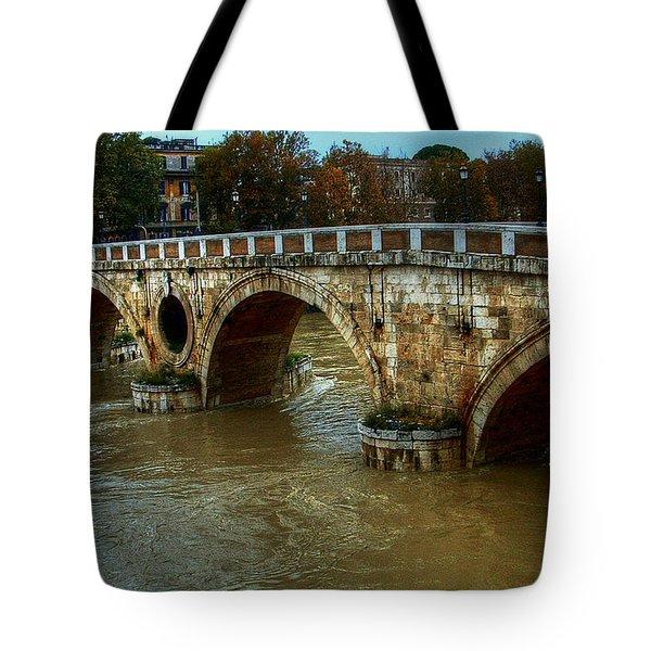 Ponte Sisto Bridge Rome Tote Bag