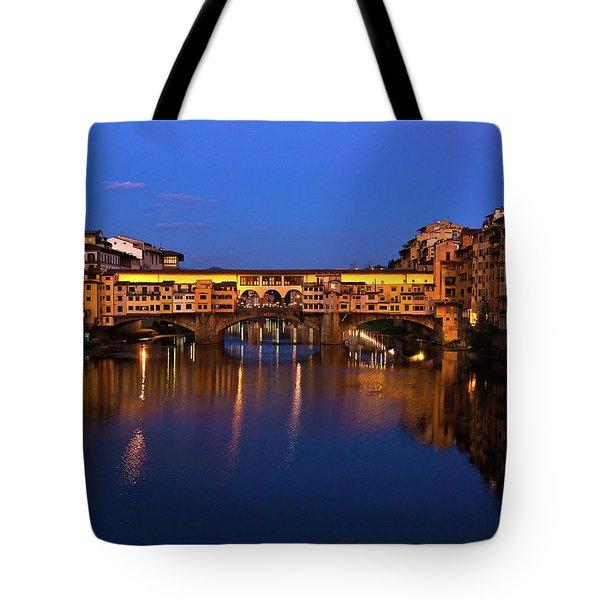 Ponte Vecchio Dusk  Tote Bag
