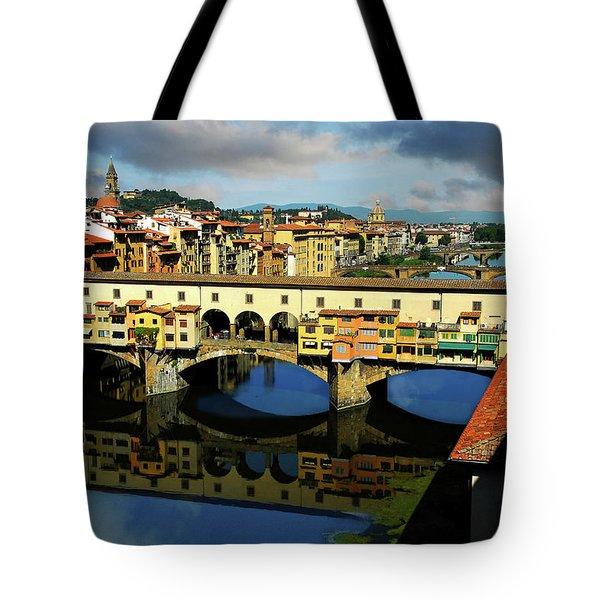 Ponte Vecchio View  Tote Bag