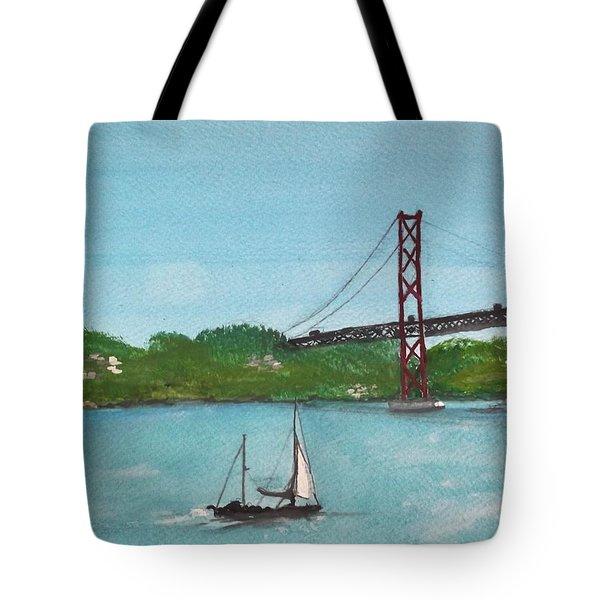 Ponte Vinte E Cinco De Abril Tote Bag