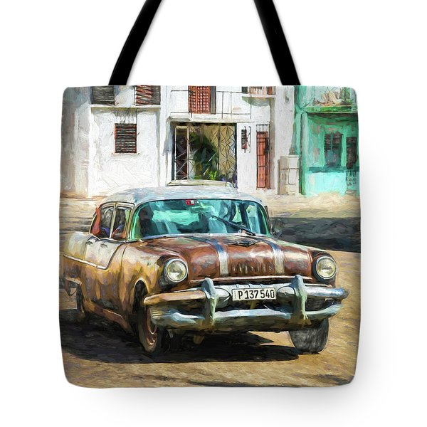 Tote Bag featuring the photograph Pontiac Havana by Lou Novick