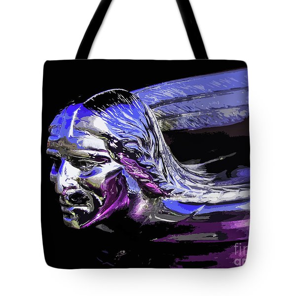 Pontiac Indian Head Hood Ornament Tote Bag