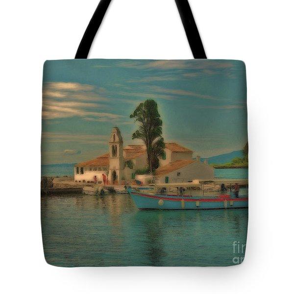 Pontikonisi Corfu Tote Bag