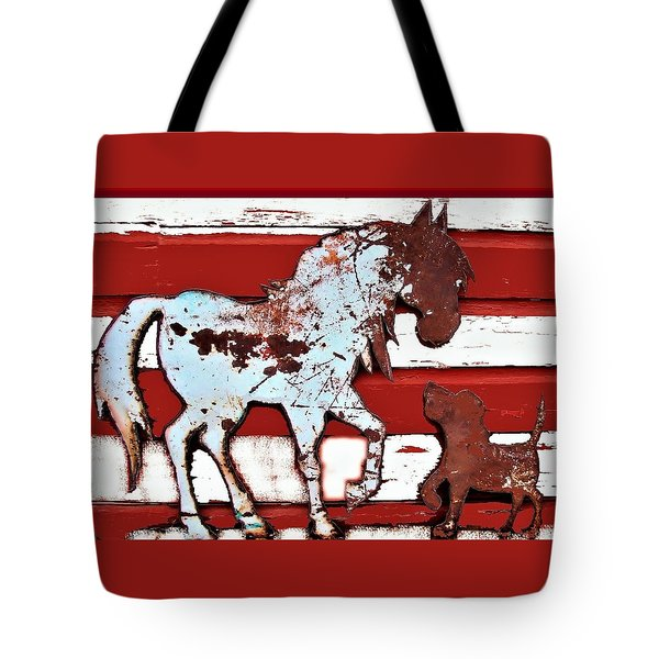 Pony And Pup 3 Tote Bag