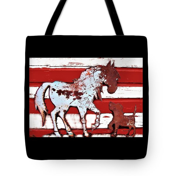 Pony And Pup 1 Tote Bag