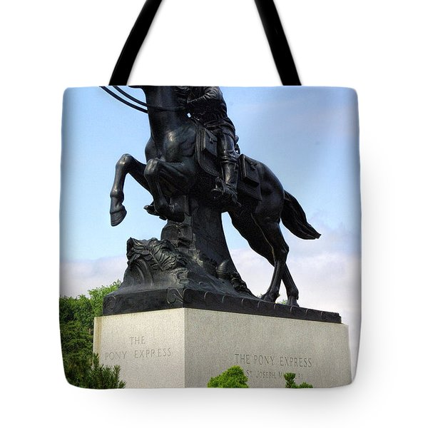 Pony Express Rider Tote Bag