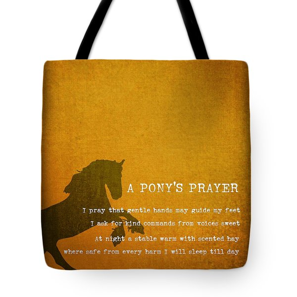 Pony Prayer Tote Bag