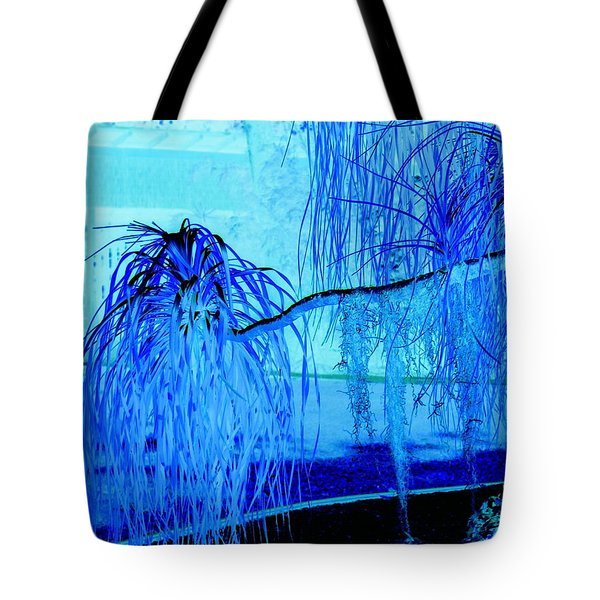 Pony Tail Blue Tote Bag