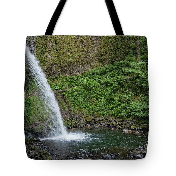 Tote Bag featuring the photograph Ponytail Falls by Greg Nyquist