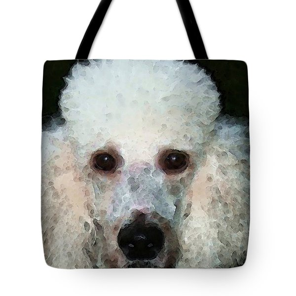 Poodle Art - Noodles Tote Bag by Sharon Cummings
