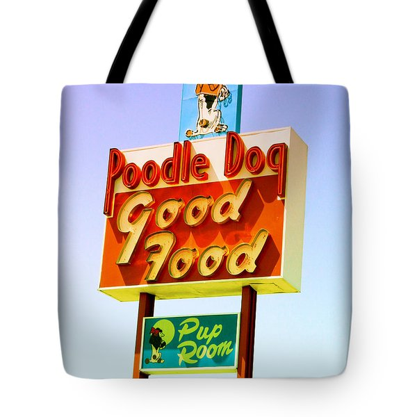 Poodle Dog Diner Tote Bag by Kathleen Grace