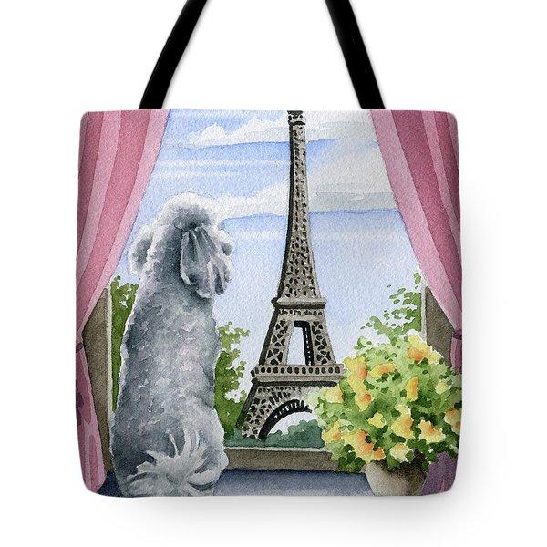 Poodle In Paris Tote Bag