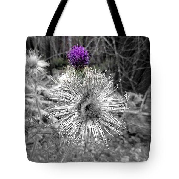Tote Bag featuring the photograph Poof by Marie Neder