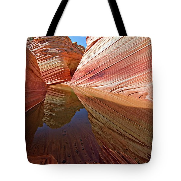 Tote Bag featuring the photograph Pool At The Wave by Wesley Aston