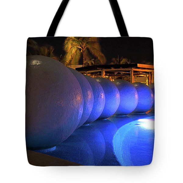 Tote Bag featuring the photograph Pool Balls At Night by Shane Bechler