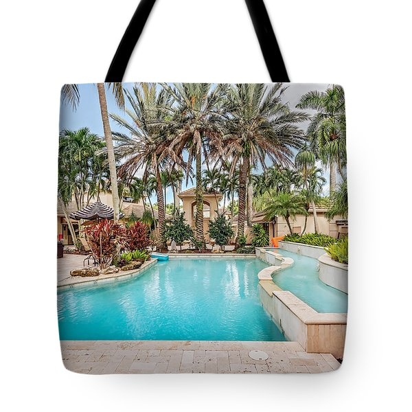 Pool House Tote Bag