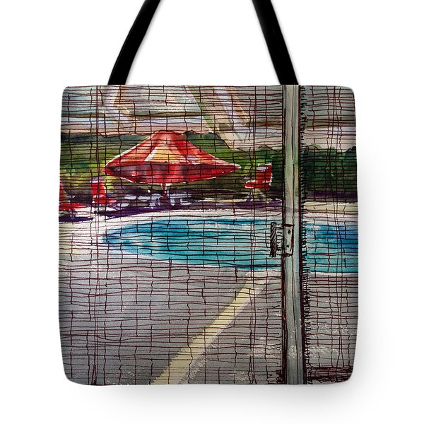 Pool View Tote Bag