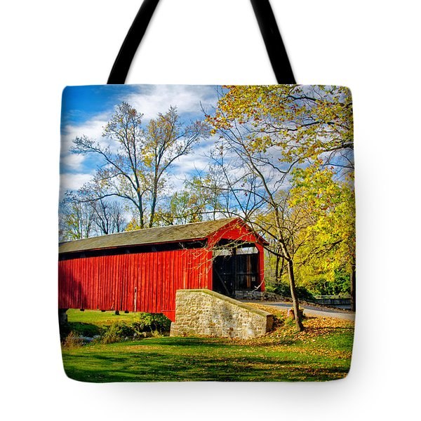 Poole Forge Covered Bridge Tote Bag