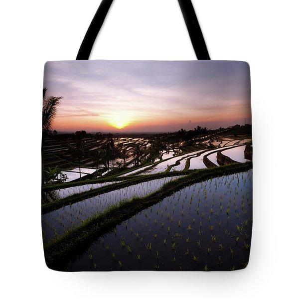 Pools Of Rice Tote Bag
