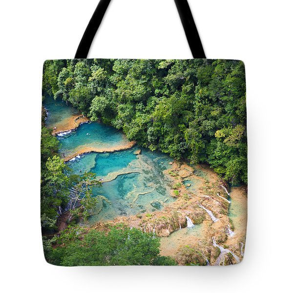 Tote Bag featuring the photograph Pools Panorama by Yuri Santin