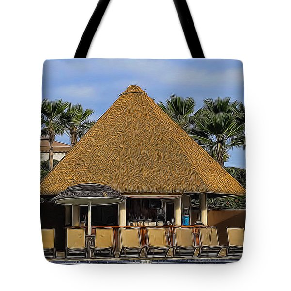Poolside Drinks Tote Bag by Pamela Walton