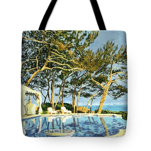 Poolside Sunset - Monaco Tote Bag