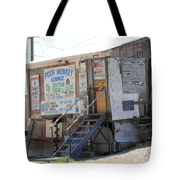 Poor Monkey's Lounge Tote Bag