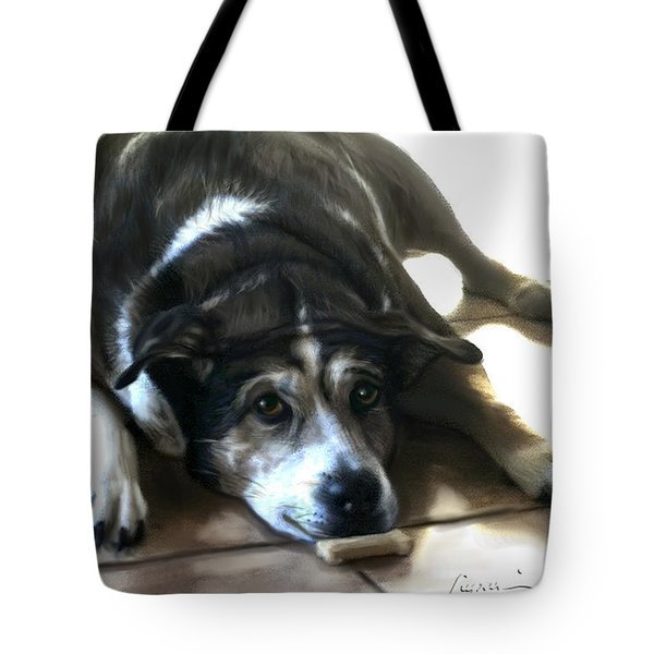 Tote Bag featuring the painting Pooz by Thomas Lupari