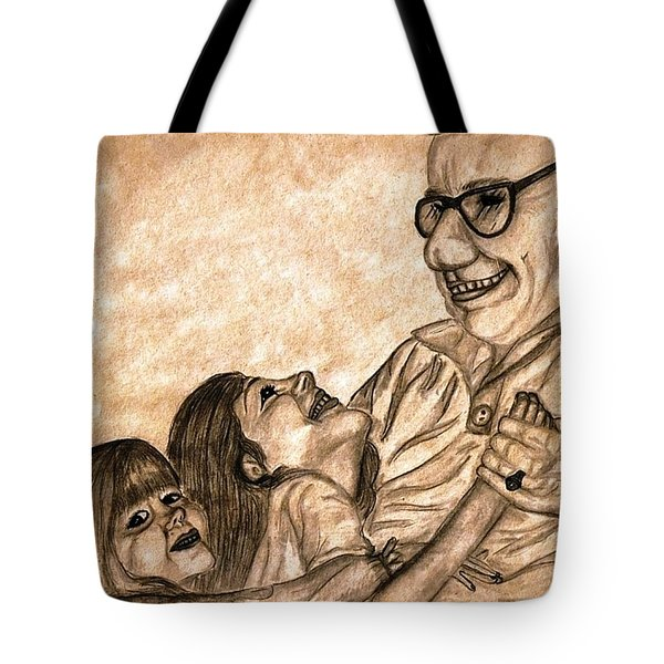 Pop And Us Tote Bag by Angela Murray