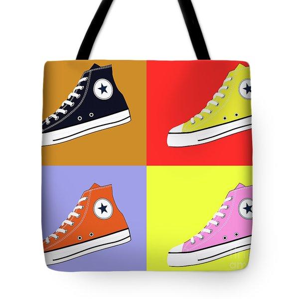 Pop Art All Star Inspired Hi Top Sneaker Tote Bag