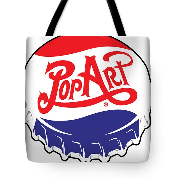 Pop Art Bottle Cap Tote Bag