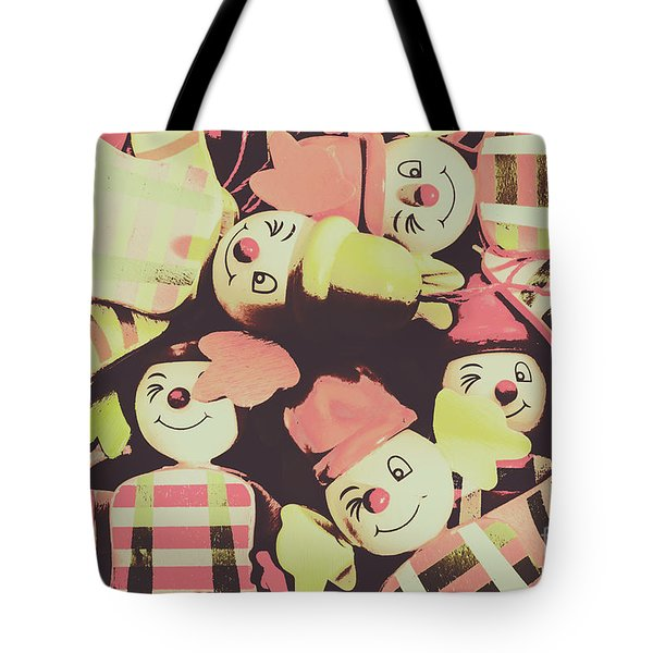Tote Bag featuring the photograph Pop Art Clown Circus by Jorgo Photography - Wall Art Gallery