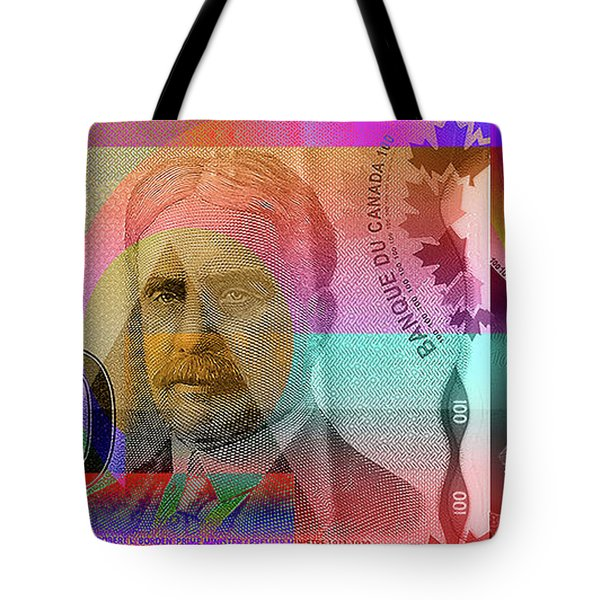 Pop-art Colorized New One Hundred Canadian Dollar Bill Tote Bag